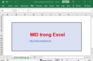 hàm mid trong excel