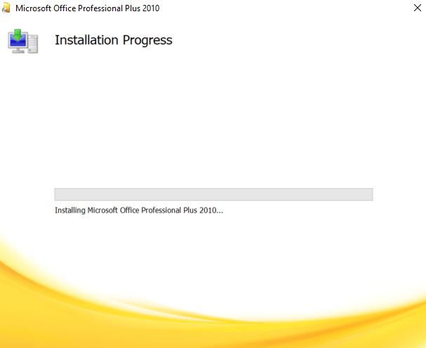 Cách tải và cài Office 2010 - Đang cài đặt