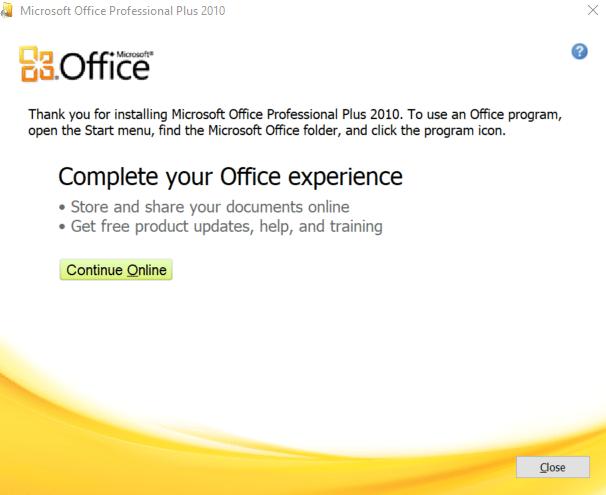 Cách tải và cài Office 2010 - Hoàn thành