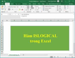 hàm ISLOGICAL