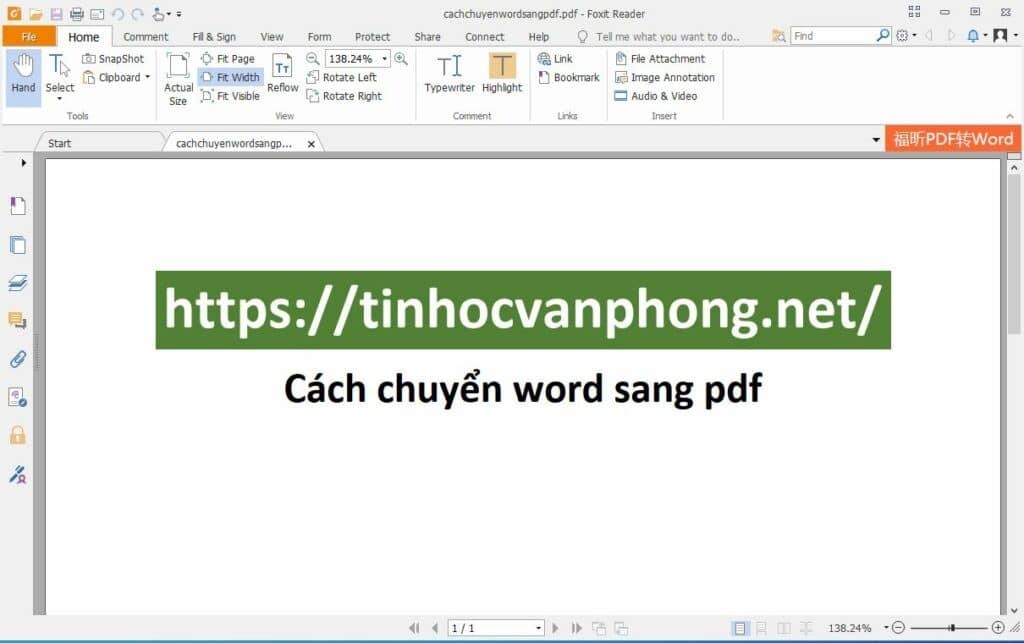 Ví dụ cách chuyển word sang pdf hình 02