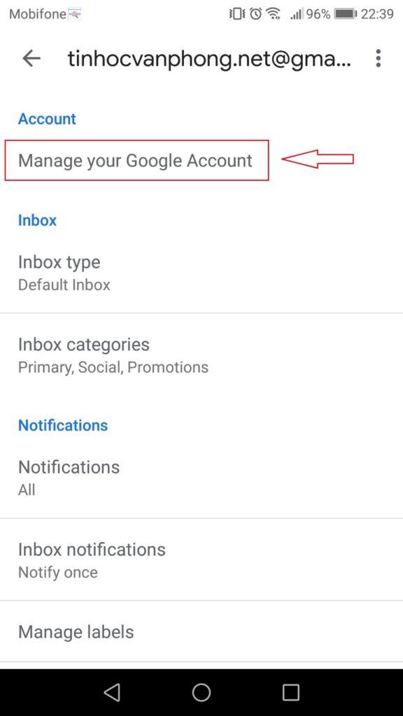 Cách đổi mật khẩu Gmail - Mobile - Account