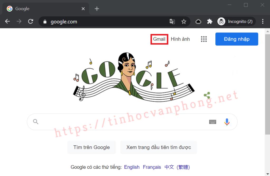 Đăng nhập Gmail - Trang chủ Google