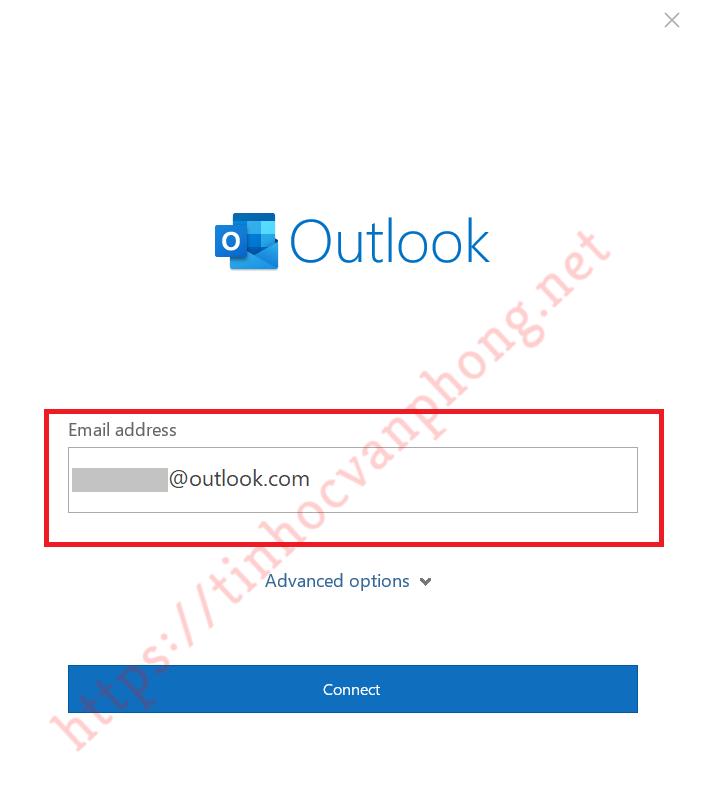 Outlook là gì - Nhập địa chỉ email