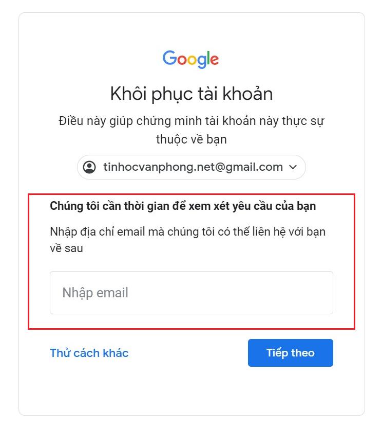 Quên mật khẩu Gmail - Cách khôi phục tài khoản Google - Địa chỉ email
