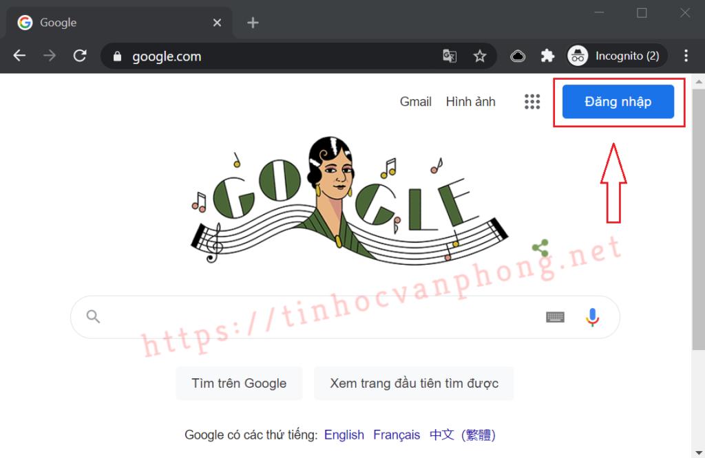 Quên mật khẩu Gmail - Trang chủ Google