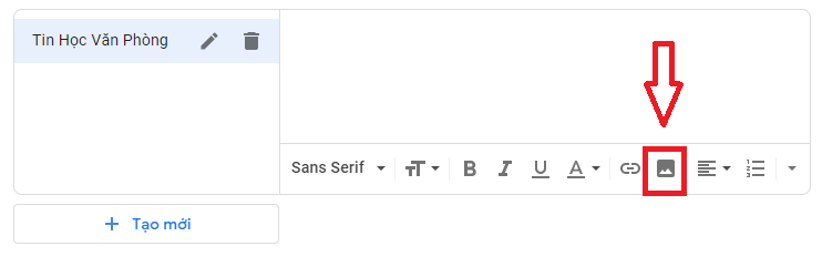 Tạo chữ ký Gmail - Chèn hình