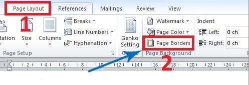 Tạo khung bìa trong Word - Page Borders - word 2007 - cách 2