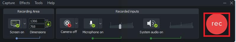 Hình quản lý record màn hình