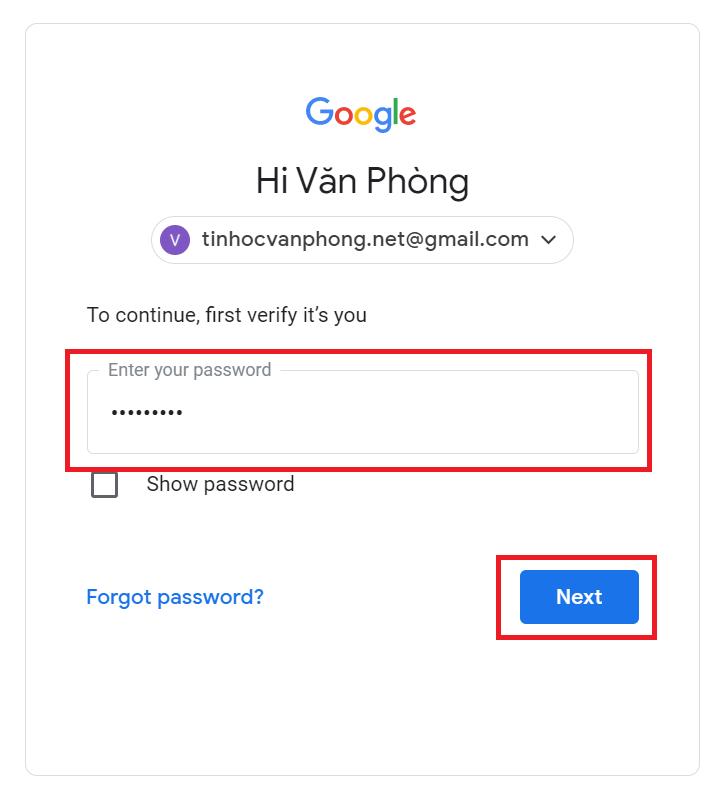 Đổi số điện thoại Gmail - Xác thực tài khoản