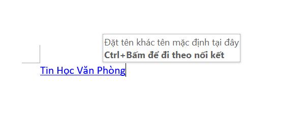 chèn link vào word - kiểm tra liên kết vừa tạo