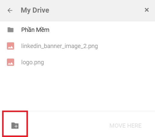 copy thư mục trên google drive - create new folder