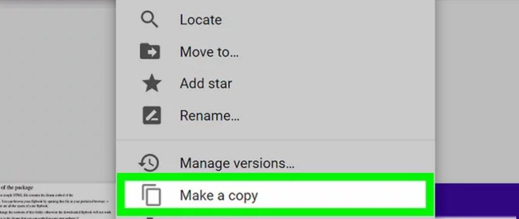 copy thư mục trên google drive - make a copy