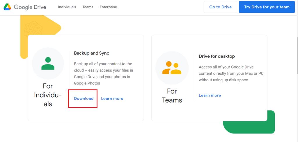 copy thư mục trên google drive - tải ứng dụng Backup and Sync 2