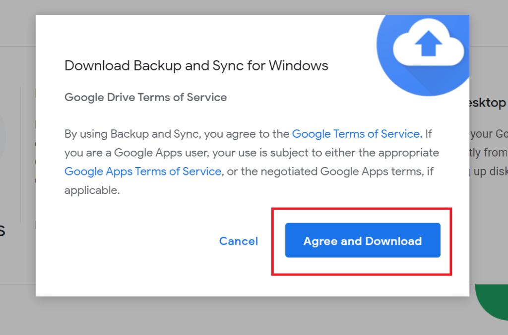 copy thư mục trên google drive - tải ứng dụng Backup and Sync 3