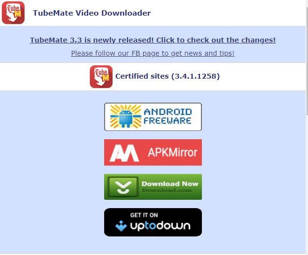 TubeMate giúp tải video từ youtube về điện thoại android samsung, máy tính bảng