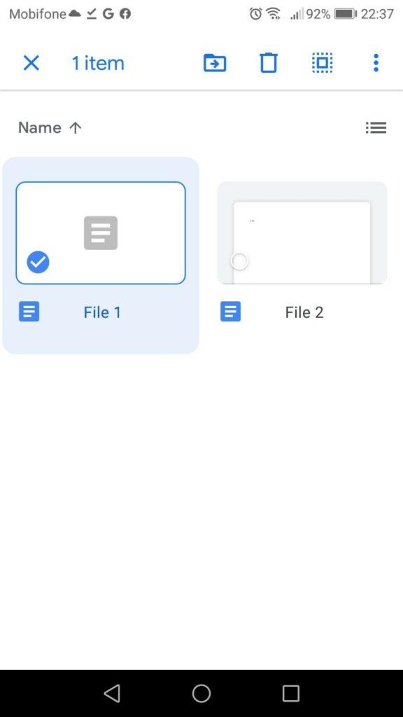 tải thư mục từ google drive - chọn 1 file