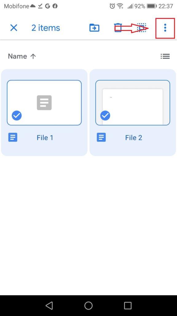 tải thư mục từ google drive - chọn nhiều file