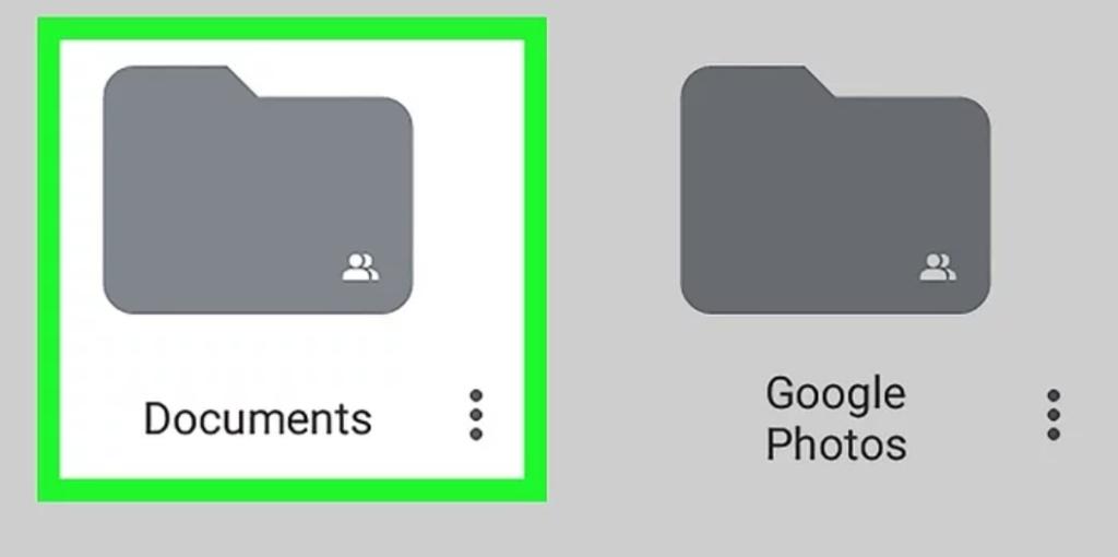 tải thư mục từ google drive - mở thư mục