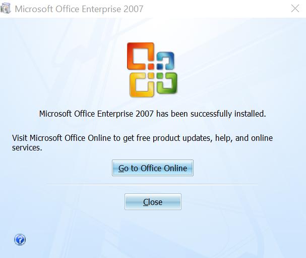hướng dẫn tải và cài office 2007 - cài đặt office 2007 thành công