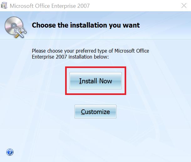 hướng dẫn tải và cài office 2007 - chọn gói cài đặt office 2007