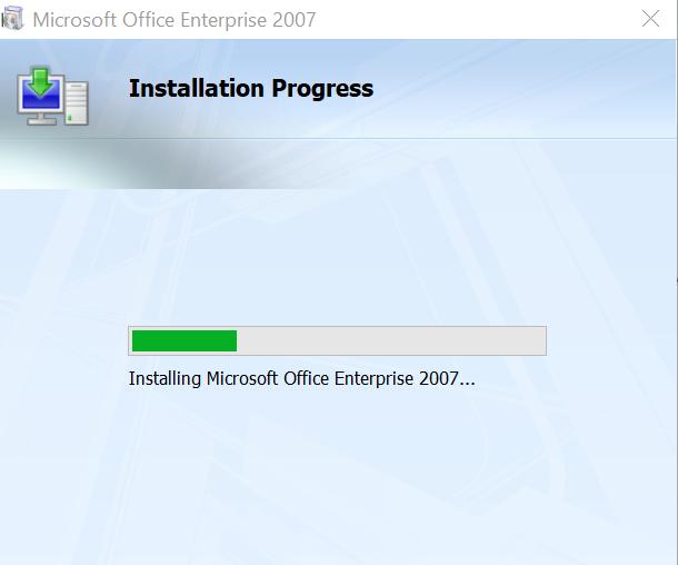 hướng dẫn tải và cài office 2007 - đang cài đặt office 2007