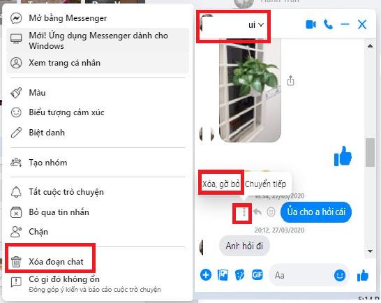Cách xóa tin nhắn Facebook