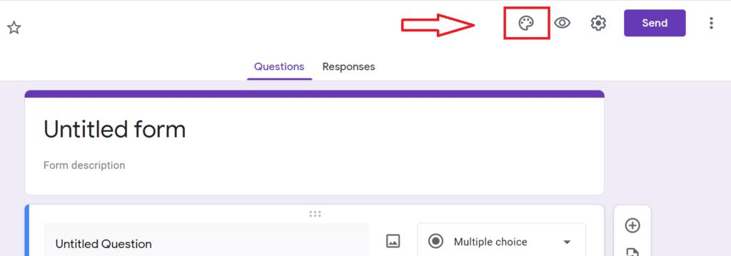 tạo form google drive - thay đổi màu biểu mẫu