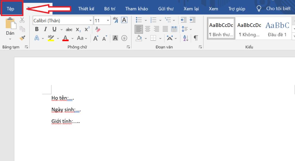 tạo template trong word - lưu template