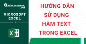 hướng dẫn sử dụng hàm text trong excel