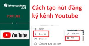 xóa bình luận trên YouTube