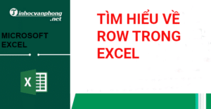 row trong excel