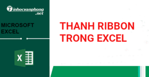 Thanh ribbon trong excel